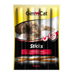 GimCat Sticks Poultry & Liver Cat Treats, 20g, Pack of 4